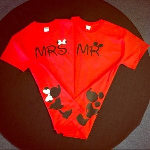 Tops - Mr. & Mrs. Disney tees